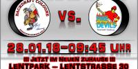 Erstes Heimspiel im Lentpark am 28.01.2018 um 09:45 Uhr
